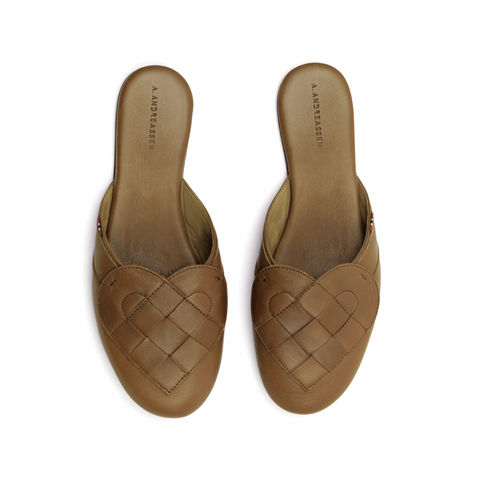 Elskling,Premium,Leather,Mule,Slipper,Tan,a.andreassen, a.andreassen uk, slipper,