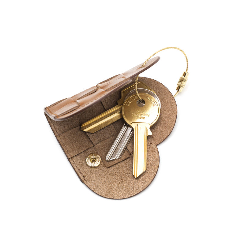 Elskling Key Pouch, Tan Leather  - product images  of