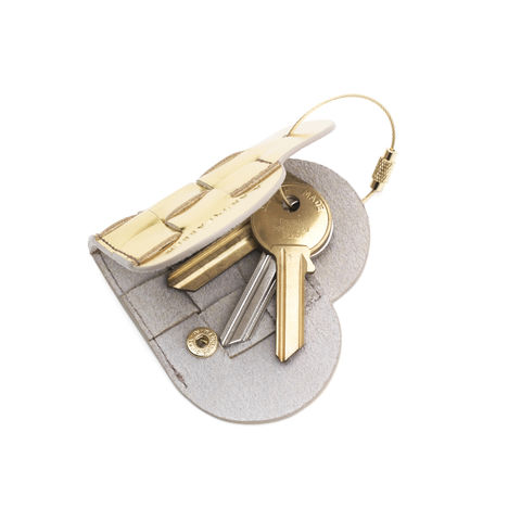 Elskling Key Pouch, Metallic Gold Leather  - product images  of