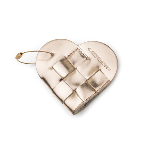 Elskling,Key,Pouch,,Metallic,Rose,Gold,Leather,a.andreassen, a.andreassen uk, key ouch, key chain, key bag, gift,