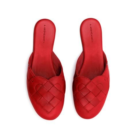 Elskling,Premium,Leather,Mule,Slipper,Very,Red,a.andreassen, a.andreassen uk, slipper,
