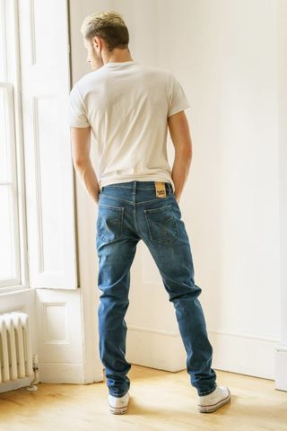 Men's,Blue,Pilot,Service,Organic,Flex,Denim,Dean,Slim,Fit,Jeans,monkee genes, monkee genes uk, organic jeans,