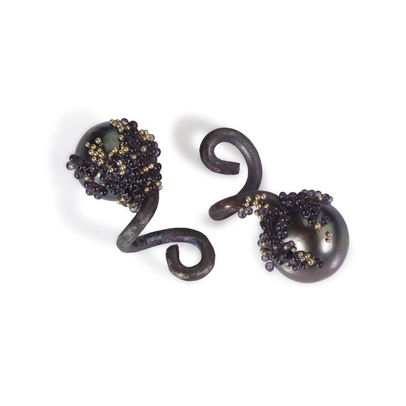 'Magic Berries' oxidized cufflinks - product image