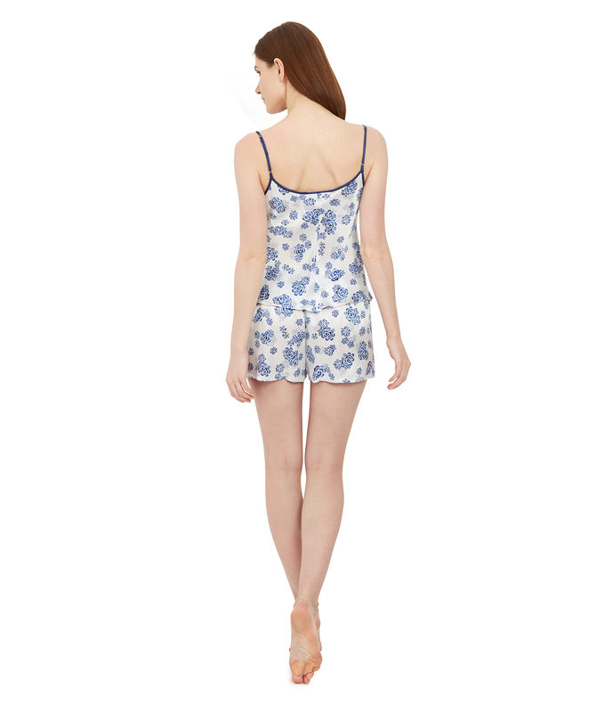 lotus print silk camisole - product images  of