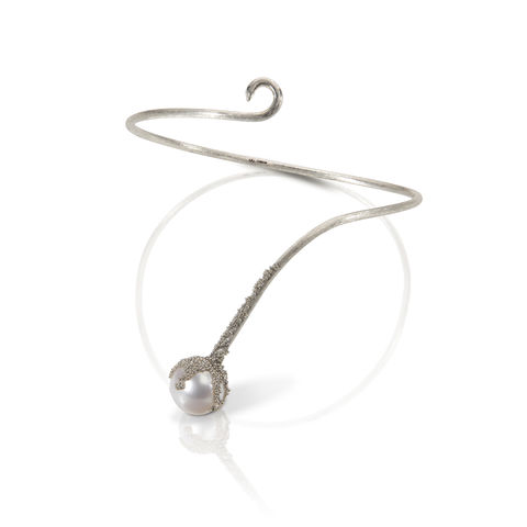 'Magic,Berries',Silver,bracelet,francesca mercenaro, francesca mercenaro uk, pearl jewellery, pearl bracelet,