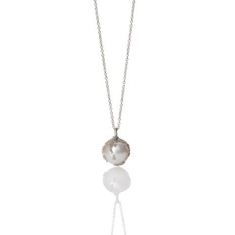'Magic,Berries',silver,pendant,francesca mercenaro, francesca mercenaro uk, pearl jewellery, pearl pendant, pearl necklace,