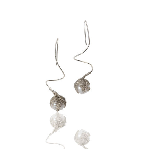 'Magic,Berries',Silver,earings,francesca mercenaro, francesca mercenaro uk, pearl jewellery, pearl earrings,