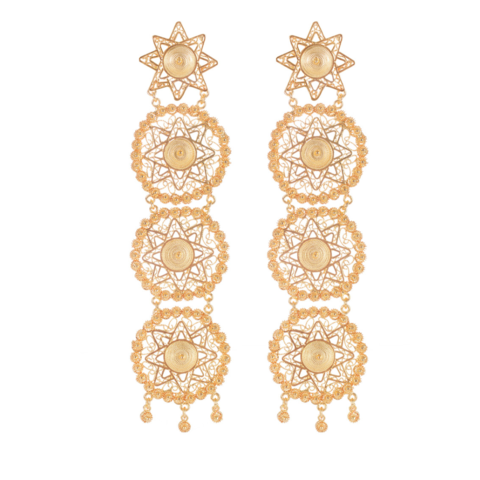 Amaya,Earrings,24ct,vanilo, vanilo uk, vanilo jewellery,  amaya earrings, gold earrings,
