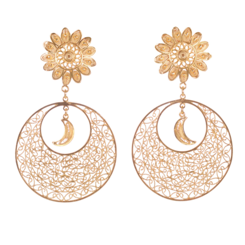 Luna,Earrings,vanilo, vanilo uk, vanilo jewellery, luna earrings, gold earrings,
