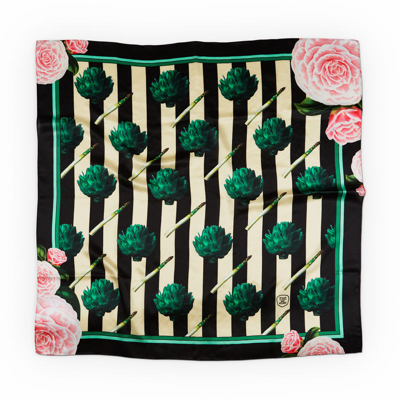 ARTICHOKES AND ROSES SILK SCARF - product images  of