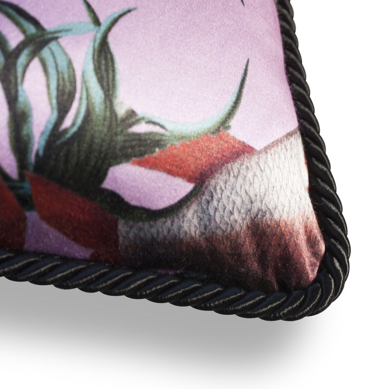 WALLFLOWER FISH DETAIL SILK AND VELVET CUSHION - product images  of