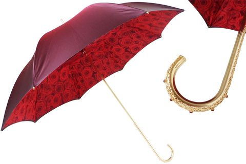 RED,ROSES,UMBRELLA,,DOUBLE,CLOTH,pasotti, pasotti umbrella, pasotti umbrella uk, pasotti london, pasotti stockist,