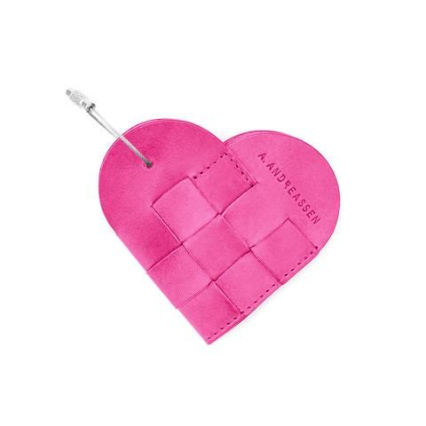 ELSKLING,KEY,POUCH,HOT,PINK,LEATHER,a.andreassen, a.andreassen uk, key ouch, key chain, key bag, gift,