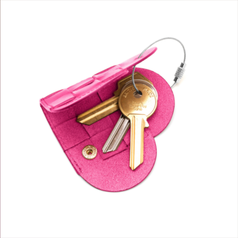 ELSKLING KEY POUCH HOT PINK LEATHER - product images  of