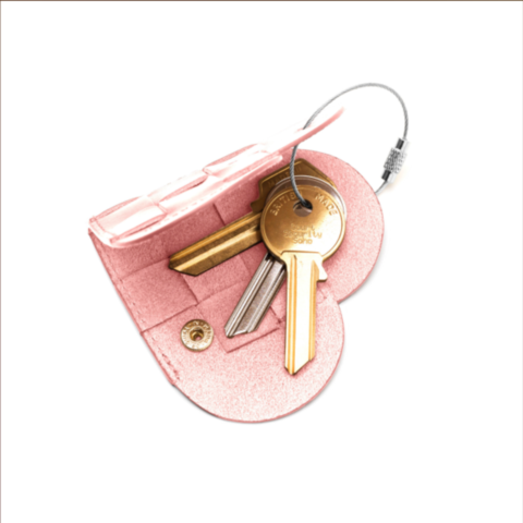 ELSKLING KEY POUCH BLUSH LEATHER - product images  of