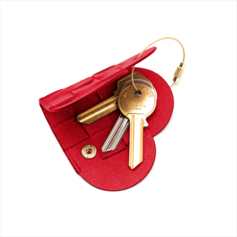 "ELSKLING KEY POUCH ""VERY RED"" LEATHER - product images  of"