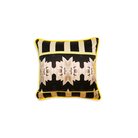 THE,BUNNY,COLLECTION,-,YELLOW,SILK,CUSHION,texas and the artichoke, home cushion, art cushion, uk cushion, velvet cushion,