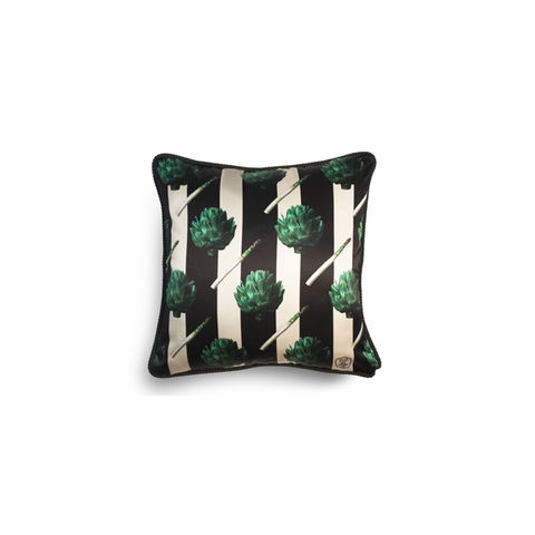 ARTICHOKE,SILK,AND,VELVET,CUSHION,-,AS,SEEN,IN,VOGUE,texas and the artichoke, home cushion, art cushion, uk cushion, velvet cushion,
