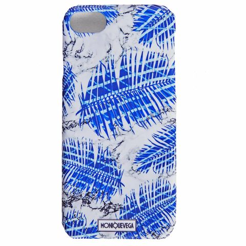 PALMANOVA,BLUE,PHONE,CASE,monique vega, moniquevega, monique vega phone case, iPhone case, Samsung phone case, art phone case,
