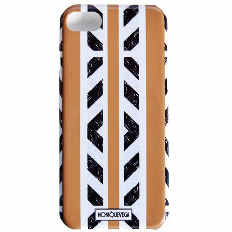 TRIBALISH,ORANGE,PHONE,CASE,monique vega, moniquevega, monique vega phone case, iPhone case, Samsung phone case, art phone case,