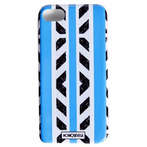 TRIBALISH,BLUE,PHONE,CASE,monique vega, moniquevega, monique vega phone case, iPhone case, Samsung phone case, art phone case,