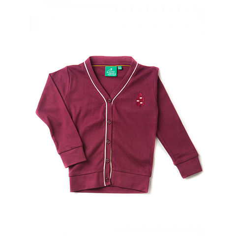 Berry,Pointelle,Cardigan,little Green Radicals, Little Green Radicals uk,