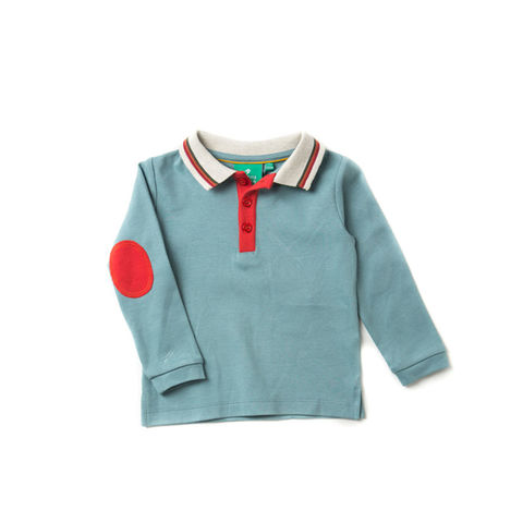 Still,Water,Blue,Polo,Shirt,Little Green Radicals, Little Green Radicals uk, kid polo,