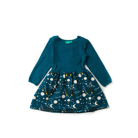 Moon,&,Star,Dress,Little Green Radicals, Little Green Radicals uk, kid dress, girl dress,