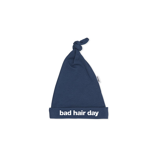 BAD HAIR DAY BABY HAT – NAVY - product image