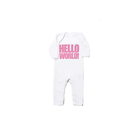HELLO,WORLD!,Cool,Pink,All,In,One,snuglo, snuglo uk, baby alert, cute baby set, baby gift, baby grow,
