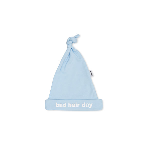 BAD HAIR DAY cute blue baby hat - product image