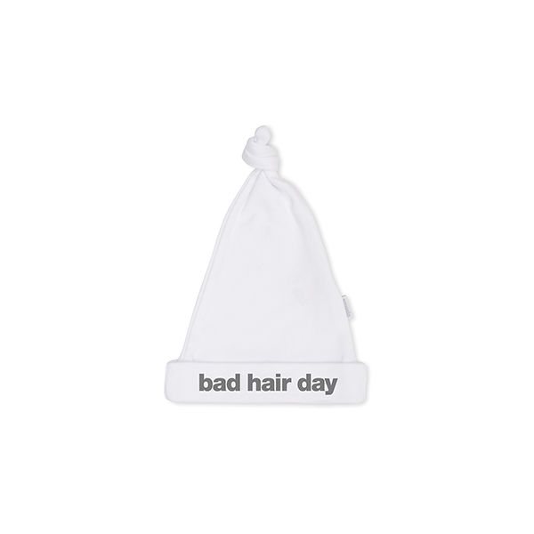 BAD HAIR DAY cute white hat - product image