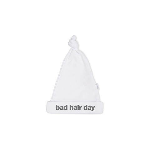 BAD,HAIR,DAY,cute,white,hat,snuglo, snuglo uk, baby alert, cute baby set, baby gift, baby hat,