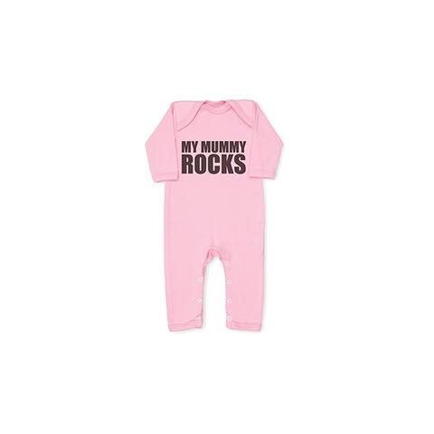 MY,MUMMY,ROCKS,pink,baby,grow,all-in-one,snuglo, snuglo uk, baby alert, cute baby set, baby gift, baby grow,