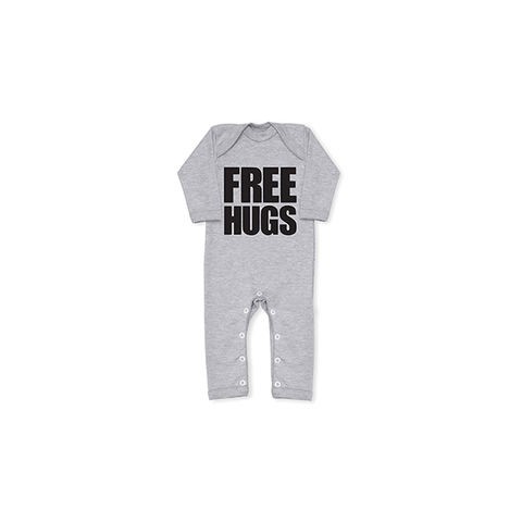 FREE,HUGS,Cool,Grey,All,In,One,snuglo, snuglo uk, baby alert, cute baby set, baby gift, baby grow,