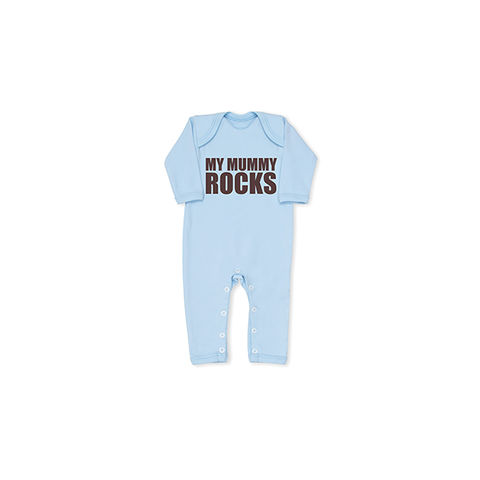My,Mummy,Rocks,Cool,Blue,Baby,grow,snuglo, snuglo uk, baby alert, cute baby set, baby gift, baby grow,