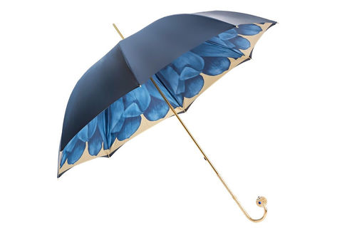 Luxury,Blue,Dahlia,Umbrella,,Double,Cloth,pasotti, pasotti umbrella, pasotti umbrella uk, pasotti london, pasotti stockist,