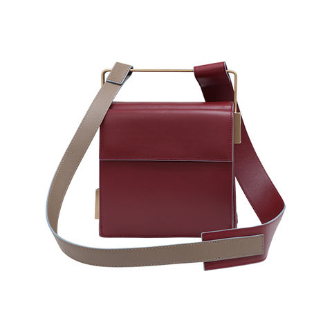 EASY TO LOVE MAROON-TAUPE SHOULDER STRAP - product images  of
