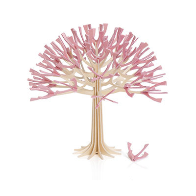 Lovi,Season,Tree,Light,Pink,11.50cm,lovi, lovi uk, wooden postcard, gift, best gift,