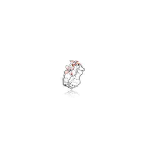 The,Crown,Blossom,Stacking,Ring,A/B,kikitang london, kikitang ring, white gold ring, the crown collection,