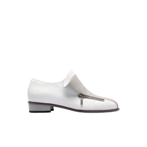 Bi-colour,low-heel,zipper,loafers,aletheia, aletheia london, aletheia shoes, leather shoes,