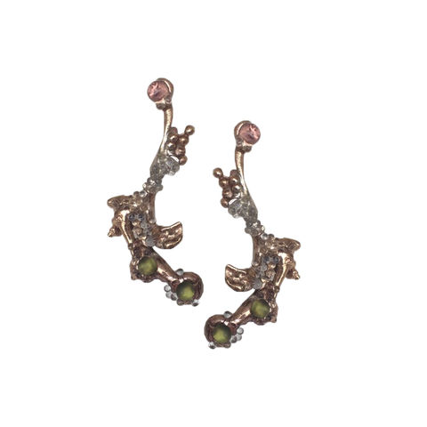 Bronze,Earrings,francesca mercenaro, francesca mercenaro uk,