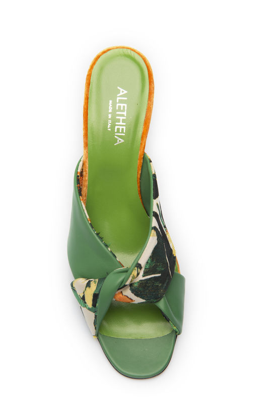 Criss-Cross Sandals- Jungle motif - product images  of