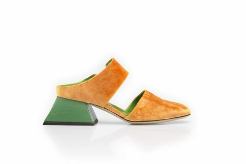 Mules-,in,orange,velvet