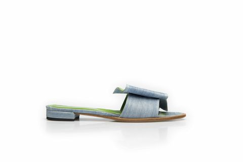 Wavy,Sandals-,in,blue,waxed,Jeans