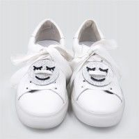 Acryl,Sneaker,Patch-,Silver,Smileys