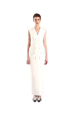 Ivory,Classic,Embroidered,gown