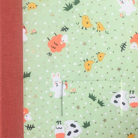Notebook-farm,animals-green,(small)