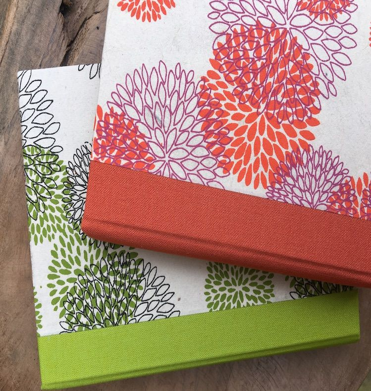 Notebook-Flowers from Nepal-orange - product images  of