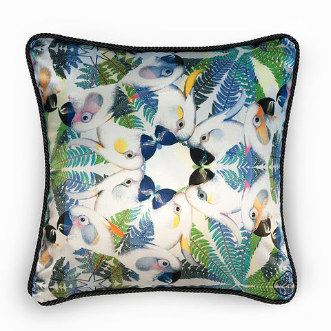 PARROTS,SILK,AND,VELVET,CUSHION